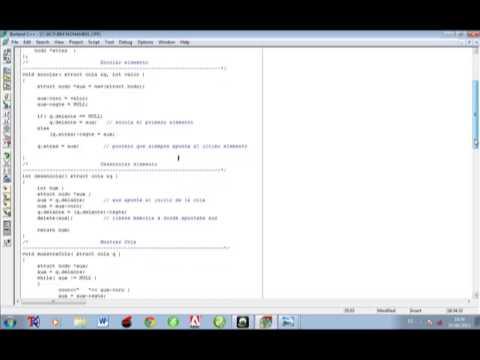 Ejemplos De Colas Y Pilas En C Youtube
