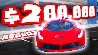 BUYING THE $200,000 FERRARI (Roblox Vehicle Simulator)