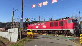 【奥羽本線】今泉踏切貨物列車