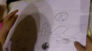 自閉症の息子(7歳)が描いた紙芝居です.