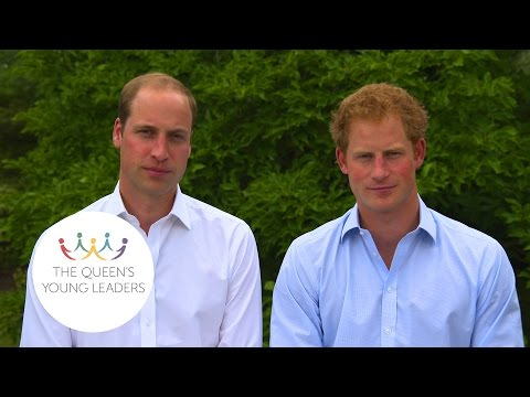 A Message To The Queen's Young Leaders From The Duke Of Cambridge And Prince Harry