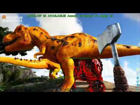 Bắt Khủng Long Bạo Chúa Bionic T-Rex Đại Chiến Human NPC (ARK: The Island)