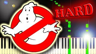 GHOSTBUSTERS! - THEME SONG - Piano Tutorial