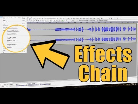 How to use Audio Effects Chain in Audacity