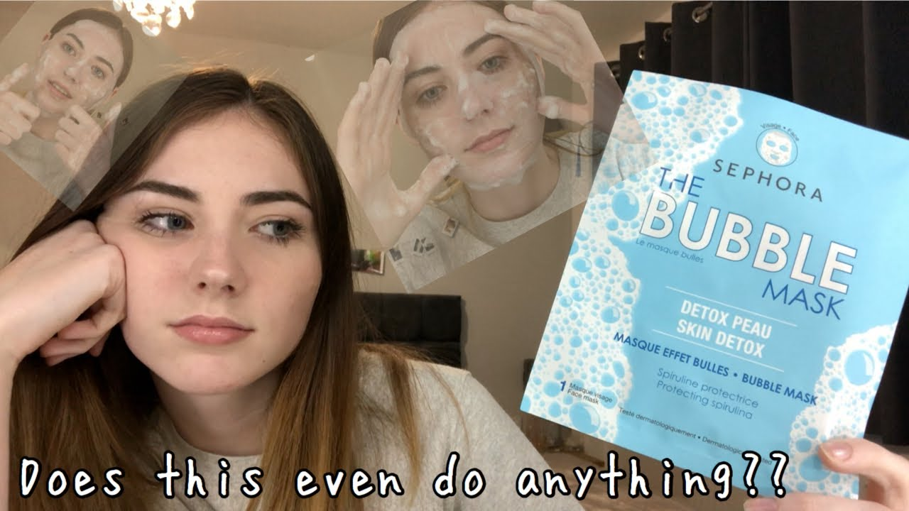 Testing The Sephora Bubble Mask Does It Work Youtube