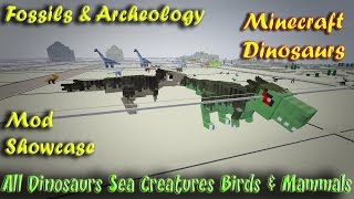 Repeat youtube video Minecraft Dinosaurs Fossils and Archeology Mod Showcase All Dinosaurs and Creatures