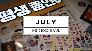 🍇 mini exo July haul : stickers, keyring, lightstick, slogan