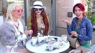 EXCLUSIVE - Farrah Abraham Grabs Lunch With Girlfriends Frenchy Morgan And Phoebe Price