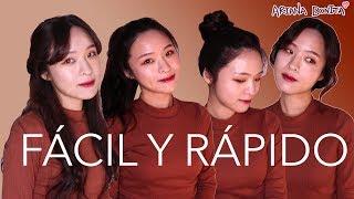 Peinados coreanos FÁCILES y RÁPIDOS para fiesta, escuela y trabajo │ Belleza Coreana