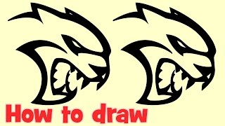 How to draw Cat logo step by step