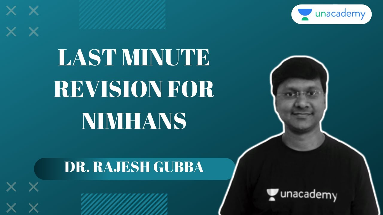NIMHANS 2020 | General Medicine | Minute Revision for NIMHANS Exam By Dr Rajesh Gubba