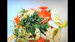 Avocado and Carrot Salad / Baby Leaf Salad / Egg Salad for Launch