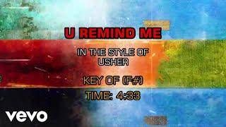 Usher - U Remind Me (Karaoke)