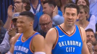 Russell Westbrook  OKC Thunder Crowd Give Nick Collision Standing Ovation with Thunder Players