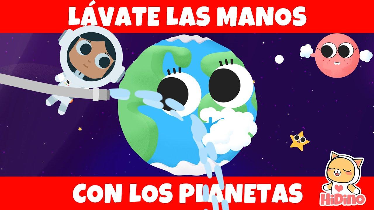 Lávate las manos con los planetas | Lavado de manos para niños | Planetas sistema solar