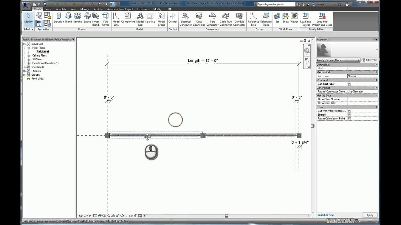 Revit Line Based Family - A How To Guide