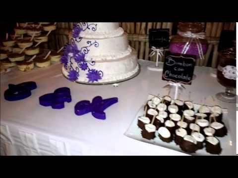 Mesa de postres de boda youtube for Mesa de postres para boda