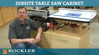 Build a Benchtop Table Saw and Router Table Stand   Workshop Project