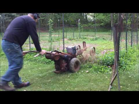 Repeat 1955 Planet Jr Walk Behind Tractor with Sickle Mower & Briggs