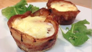 Bacon And Egg Cup Cakes