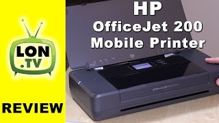 HP OfficeJet 200 Mobile Printer Review and How to Set Up
