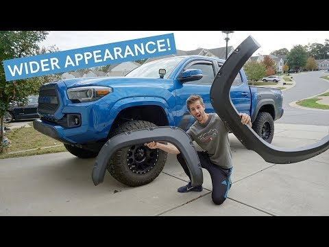 How To Install 3rd Gen Toyota Tacoma Fender Flares Youtube