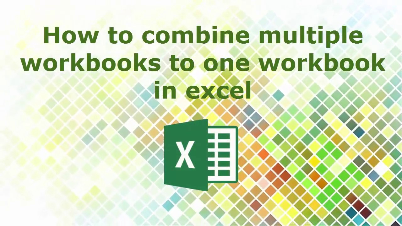 How to combine multiple workbooks to one workbook in excel YouTube – Excel Combine Multiple Worksheets