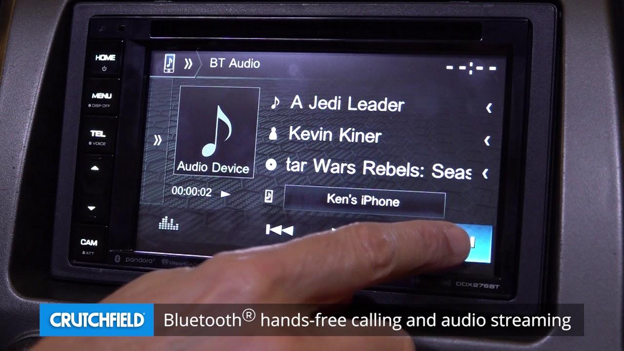 Kenwood Ddx276bt Display And Controls Demo Crutchfield Video Youtube