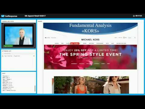 Apparel (Retail) industry Part 3 Michael Kors company (KORS) fundamental analysis