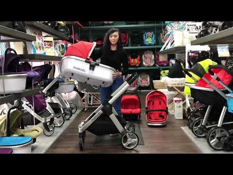 Isafe Baby Stroller 3 In 1 Marvel Pram Travel System