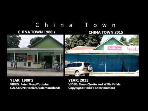 The old & new face of chinatown, honiara solomon islands
