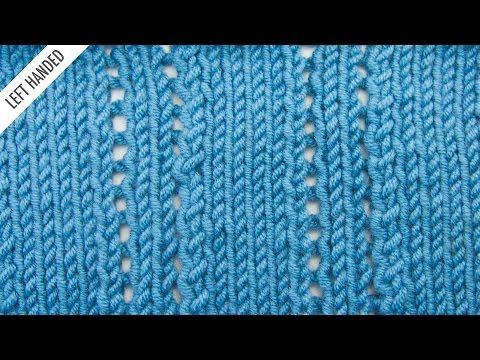 The Ploughed Acre Lace Stitch :: Knitting Stitch #523 :: Left Handed