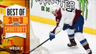 Best 3-on-3 Overtime and Shootout Moments from Week 2 | NHL