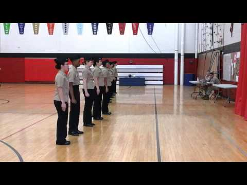 Harold L. Richards NJROTC Unarmed Exhibition Platoon 3rd place Eisenhower 2014-15