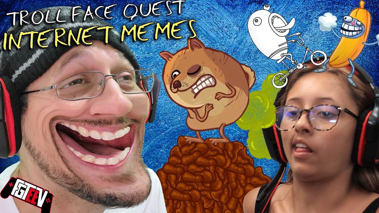 TROLLFACE 2021!  Playing 2 games at Once! Internet Memes x Doofus Drop Mashup (FGTeeV Lex Gameplay)