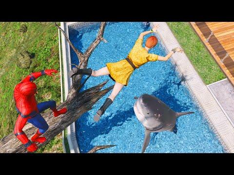 SPIDERMAN Water Ragdolls | GTA 5 Jumps/Fails #72 (Euphoria Physics | Funny Moments | Ragdoll)
