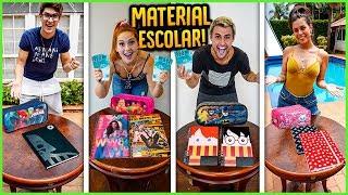QUEM COMPRA O MELHOR MATERIAL ESCOLAR COM 100R$!!  [ REZENDE EVIL ]
