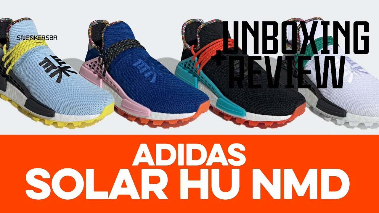 874fab86a UNBOXING+REVIEW - adidas Solar HU NMD - YouTube