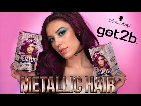 METALLIC HAIR TUTORIAL - Coloring My Hair Amethyst - got2b Metallic Hair Color - Victoria Lyn - 동영상