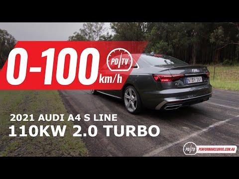 2021 Audi A4 35 TFSI 0-100km/h & engine sound