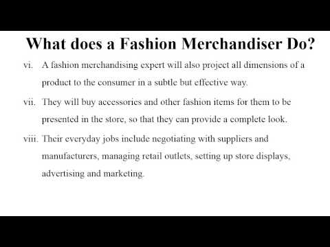 What You Can Do With a Degree in Fashion Merchandising