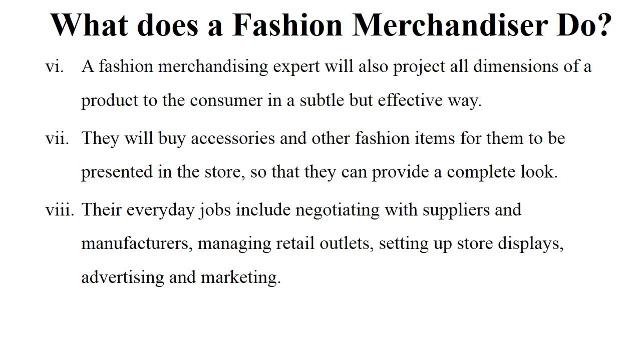 What is a fashion merchandising 96