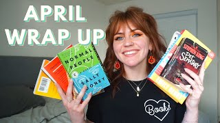 april wrap up!!! 13 books!! 📚(and some cheesy romances.....)