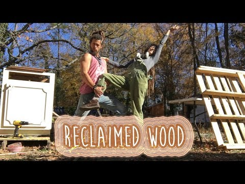EPISODE #9 Reclaimed wood cabinets & Pallets PLUS free Denim Insulation for our Skoolie