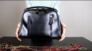 Обзор кожаной сумки через плечо