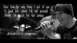 Avenged Sevenfold Dear God Lyric