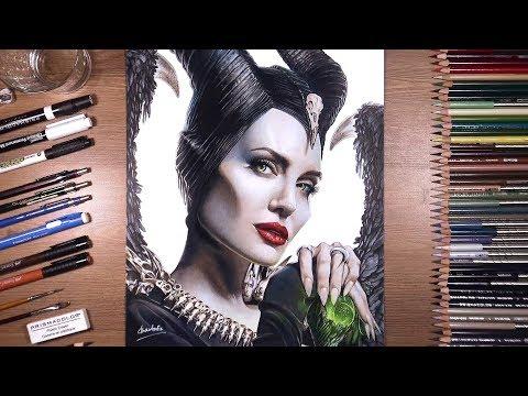 Drawing Maleficent (Angelina Jolie) | Drawholic