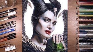 Drawing Maleficent (Angelina Jolie)   drawholic