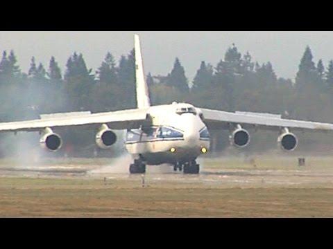 Antonov An-124 Landing NASA Ames Research Center