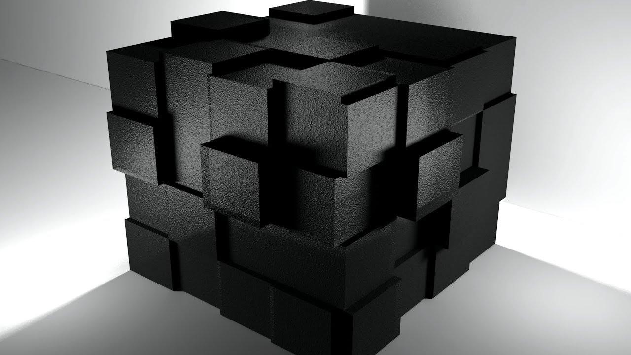 картинка для рабочего стола черные кубы фото